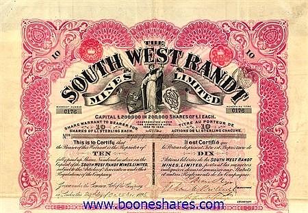 SOUTH WEST RANDT MINES LTD.