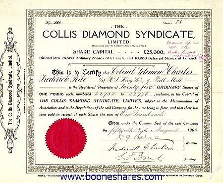 COLLIS DIAMOND SYNDICATE LTD.