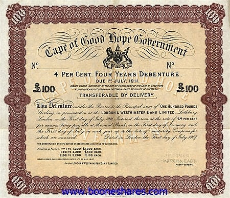CAPE OF GOOD HOPE GOVERNMENT