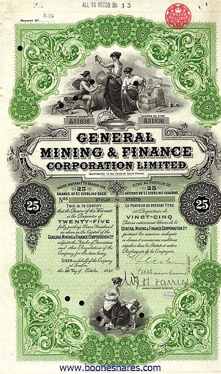 GENERAL MINING & FINANCE CORP. LTD