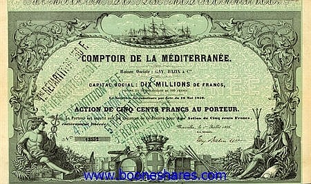 COMPTOIR DE LA MEDITERRANEE  (GAY, BAZIN & CO.)