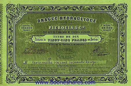 DRAGUE HYDRAULIQUE - PIERQUIN & CIE. (4 types)