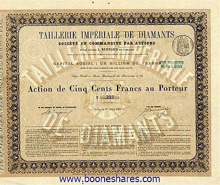 TAILLERIE IMPERIALE DE DIAMANTS SOC.