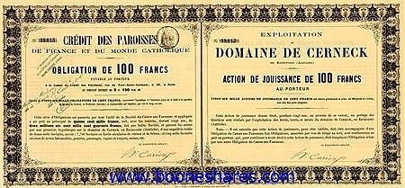 DOMAINE DE CERNECK, EXPLOITATION DU - CREDIT DES PAROISSES DE FRANCE ET DU MONDE CATHOLIQUE