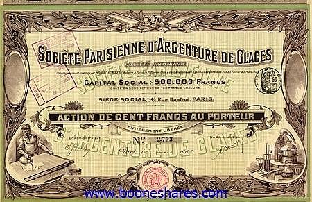 ARGENTURE DE GLACES, SOC. PARISIENNE D'