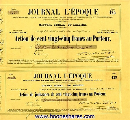 JOURNAL L'EPOQUE SOC.
