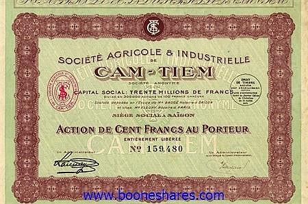 AGRICOLE & INDUSTRIELLE DE CAM-TIEM