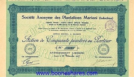 PLANTATIONS MARIANI, S.A. DES
