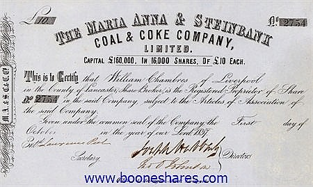 MARIA ANNA & STEINBANK COAL & COKE CO., LTD