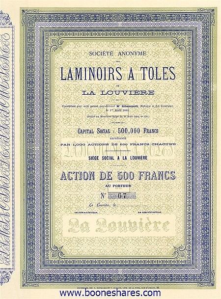 LAMINOIRS A TOLES DE LA LOUVIERE, S.A.