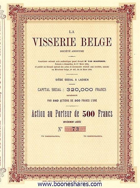 VISSERIE BELGE S.A.