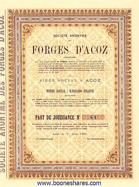 FORGES D'ACOZ, S.A. DES