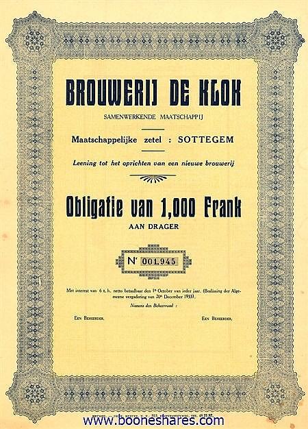 BROUWERIJ DE KLOK S.M.