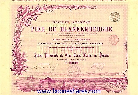 PIER DE BLANKENBERGHE, S.A. DU