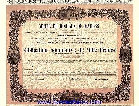MINES DE HOUILLE DE MARLES SOC. CIV.