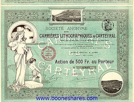 CARRIERES LITHOGRAPHIQUES DU CARTEYRAL, S.A. DES