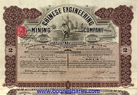 CHINESE ENGINEERING AND MINING CO.
