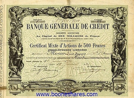 BANQUE GENERALE DE CREDIT S.A.