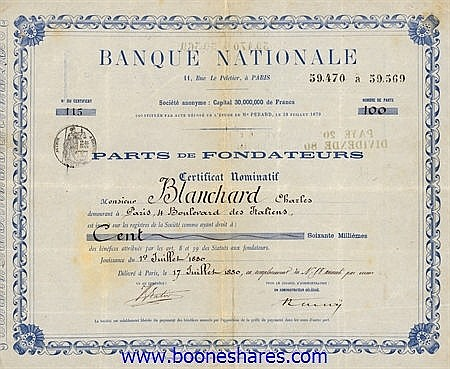BANQUE NATIONALE S.A. (2 types)