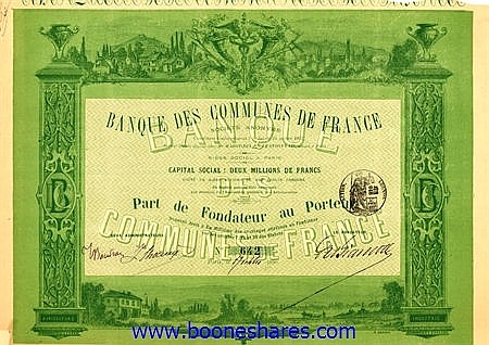 BANQUE DES COMMUNES DE FRANCE S.A. (3 types)