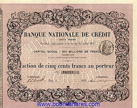 BANQUE NATIONALE DE CREDIT S.A.