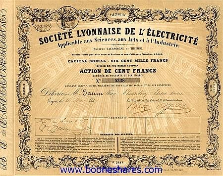 ELECTRICITE, SOC. LYONNAISE DE L'