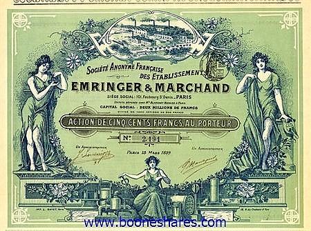 EMRINGER & MARCHAND, S.A. FR.