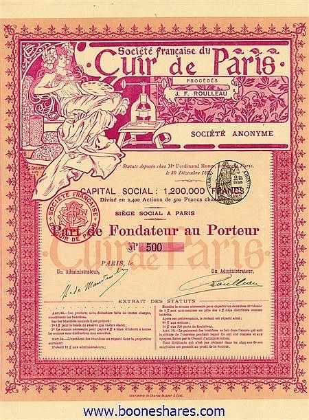 CUIR DE PARIS, SOC. FRANCAISE DU