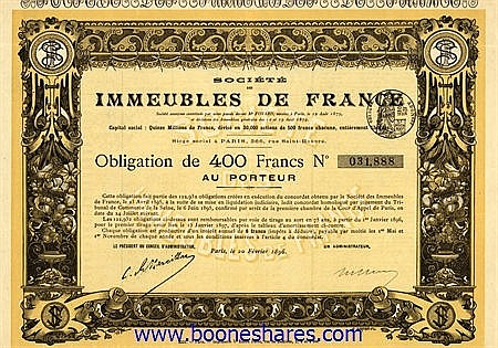 IMMEUBLES DE FRANCE, SOC. DES