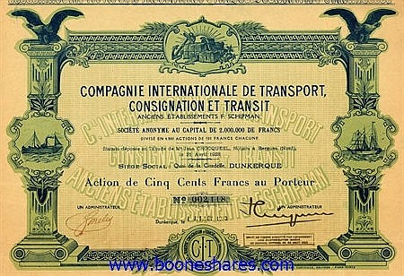 INTERNATIONALE DE TRANSPORT, CONSIGNATION ET TRANSIT ANC. ETS. F. SCHIPMAN