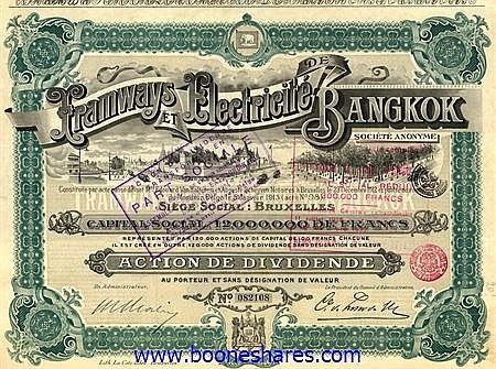 TRAMWAYS ET ELECTRICITE DE BANGKOK