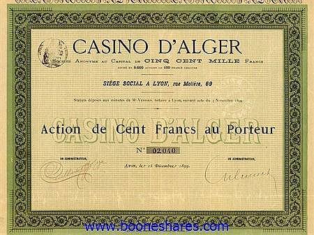 CASINO D'ALGER S.A.