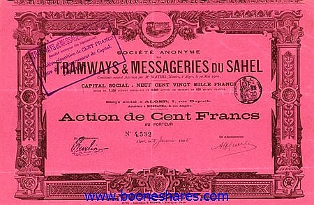 TRAMWAYS & MESSAGERIES DU SAHEL