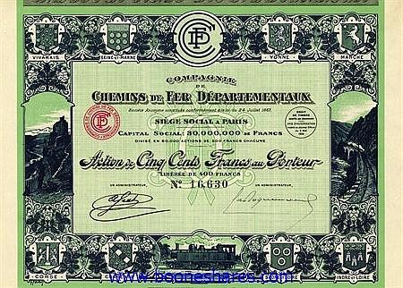 C.D.F. DEPARTEMENTAUX, CIE. DES
