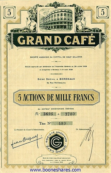 GRAND CAFE S.A.