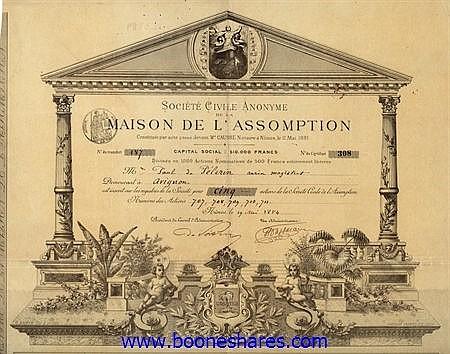 MAISON DE L'ASSOMPTION, SOC. CIVILE