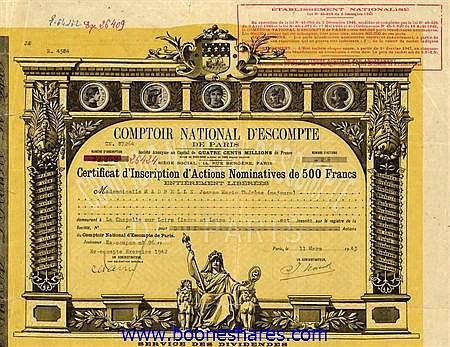 COMPTOIR NATIONAL D'ESCOMPTE DE PARIS S.A.