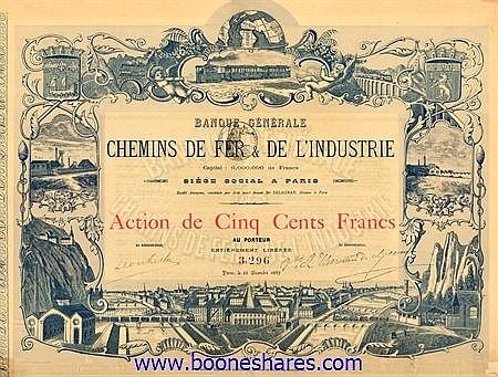 BANQUE GENERALE DES CHEMINS DE FER & DE L'INDUSTRIE S.A.