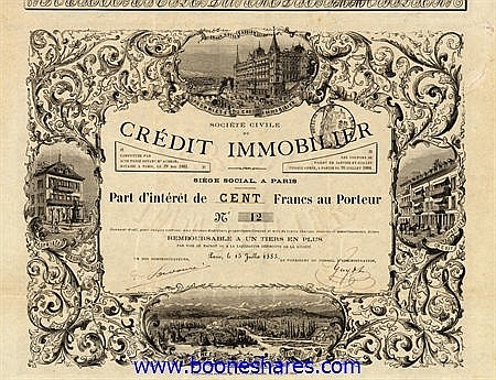 CREDIT IMMOBILIER, SOC. CIVILE DU