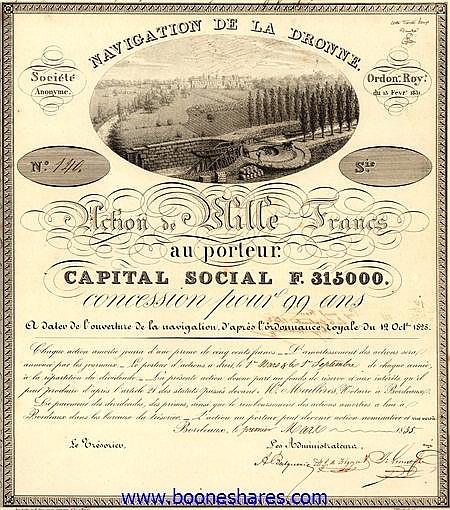 NAVIGATION DE LA DRONNE S.A.