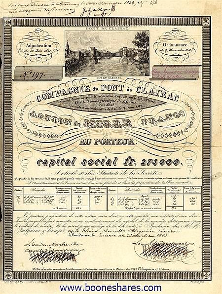 PONT DE CLAIRAC, CIE. DU