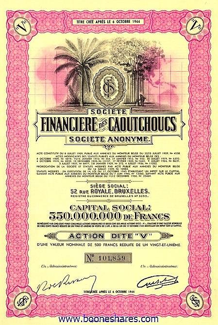 FINANCIERE DES CAOUTCHOUCS, SOC.