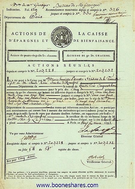 CAISSE D'EPARGNES ET DE BIENFAISANCE