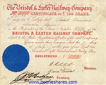 BRISTOL & EXETER RAILWAY CO.