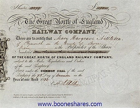 GREAT NORTH OF ENGLAND RAILWAY CO