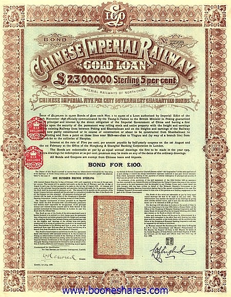 CHINESE IMPERIAL RAILWAY LOAN