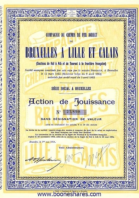 C.D.F. DIRECT DE BRUXELLES A LILLE ET CALAIS, CIE DU
