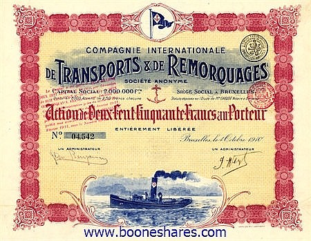 TRANSPORTS & DE REMORQUAGES, CIE. INTERNATIONALE DE