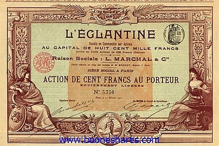 L'EGLANTINE SOC. EN COMMANDITE PAR ACTIONS - L. MARCHAL & CIE.