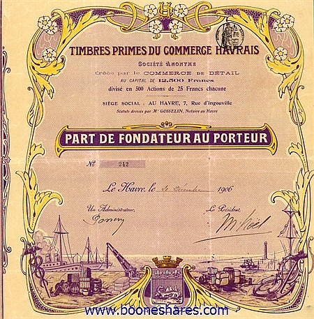 TIMBRES PRIMES DU COMMERCE HAVRAIS S.A.